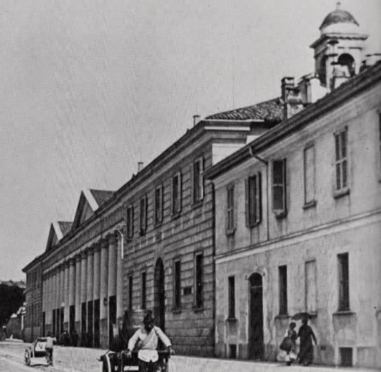 via san vittore ospedale e chiesa santa maria di loreto