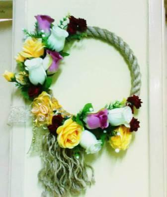 Gambar membuat kreasi bunga hiasan dinding