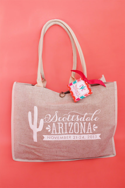 Custom Scottsdale bachelorette party welcome bag