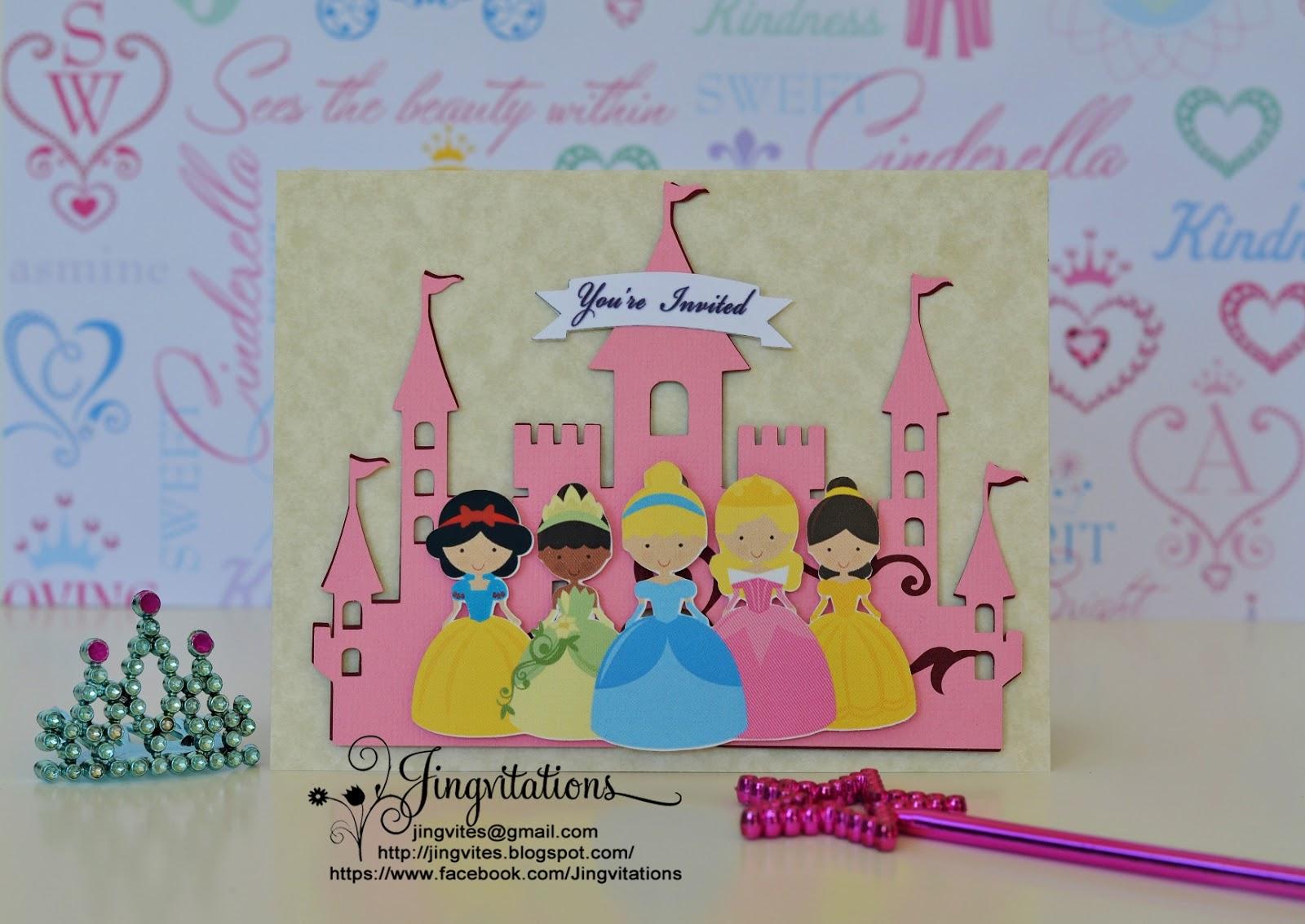 Birthday And Baby Shower Invitations Handmade Princess Tiana Snow