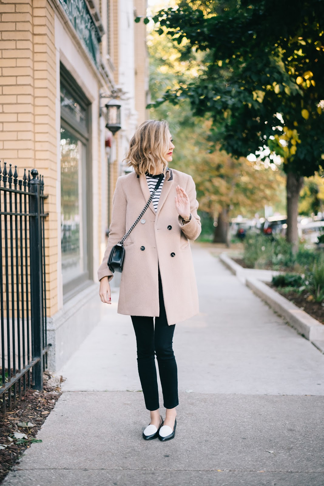 camel stripes outfit
