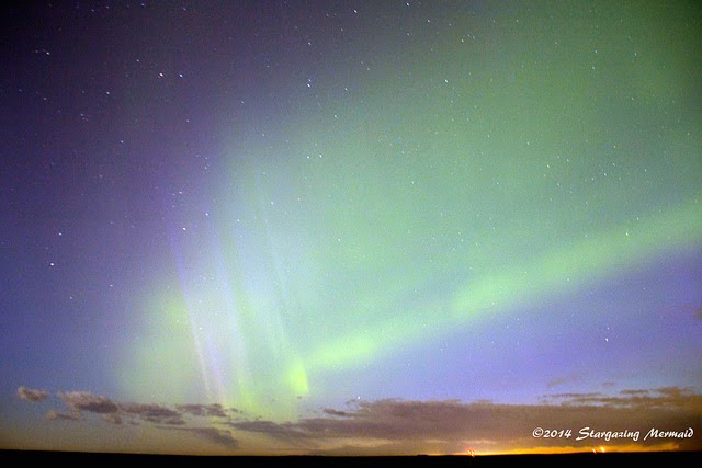 Northern Lights - June 7 2014  Near Calgary Alberta,  by Stargazing Mermaid