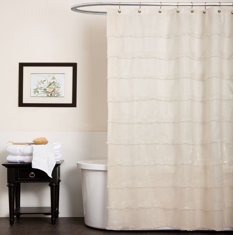 Modern Interior Design White Color Bathroom Shower Curtain Sets