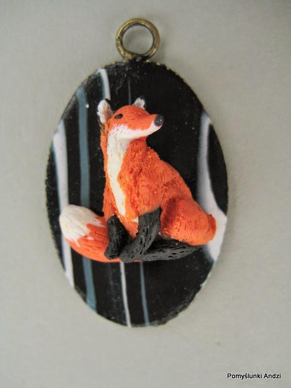 fox, lis, pendant, wisiorek,