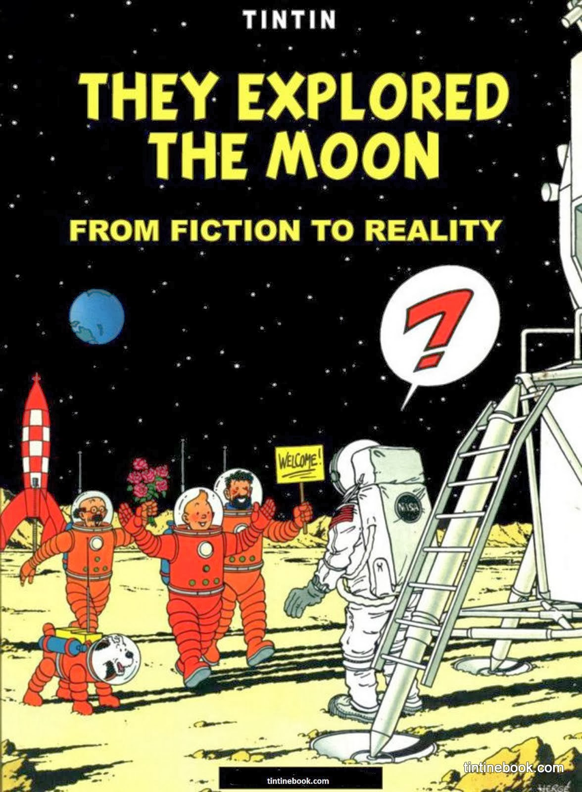 Tintin they Explored the Moon Cover