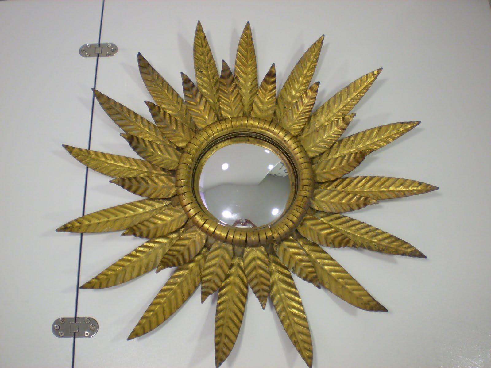 Vintagera Espejo ojo de bruja Oeil de Sorcire en forma de sol