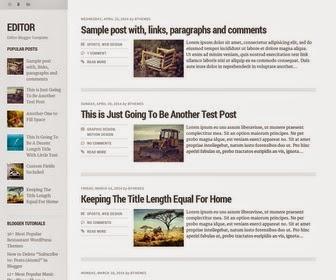 Editor Blogger Template