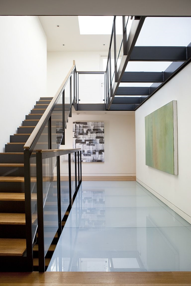Elegant and simple stairs leading to the second floor