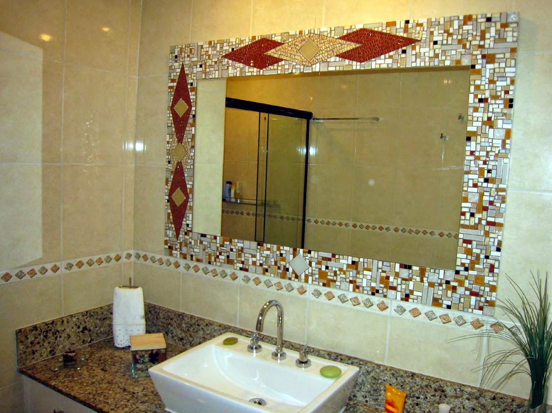 #A37A28 Renovando banheiros com boas idéias e pouco dinheiro ~ Decorando por  1134x850 px Banheiros Com Pastilhas E Espelhos 1397