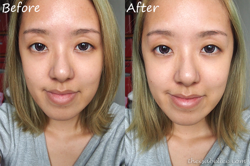 Before and after Mika serum and Hydro Moisturizer