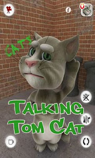 Screenshots of the Talking Tom Cat for Android tablet, phone.