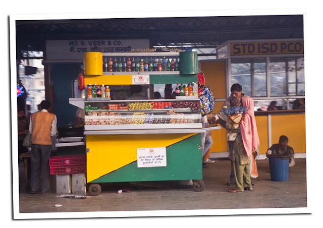Comprar comida antes de subirse al tren