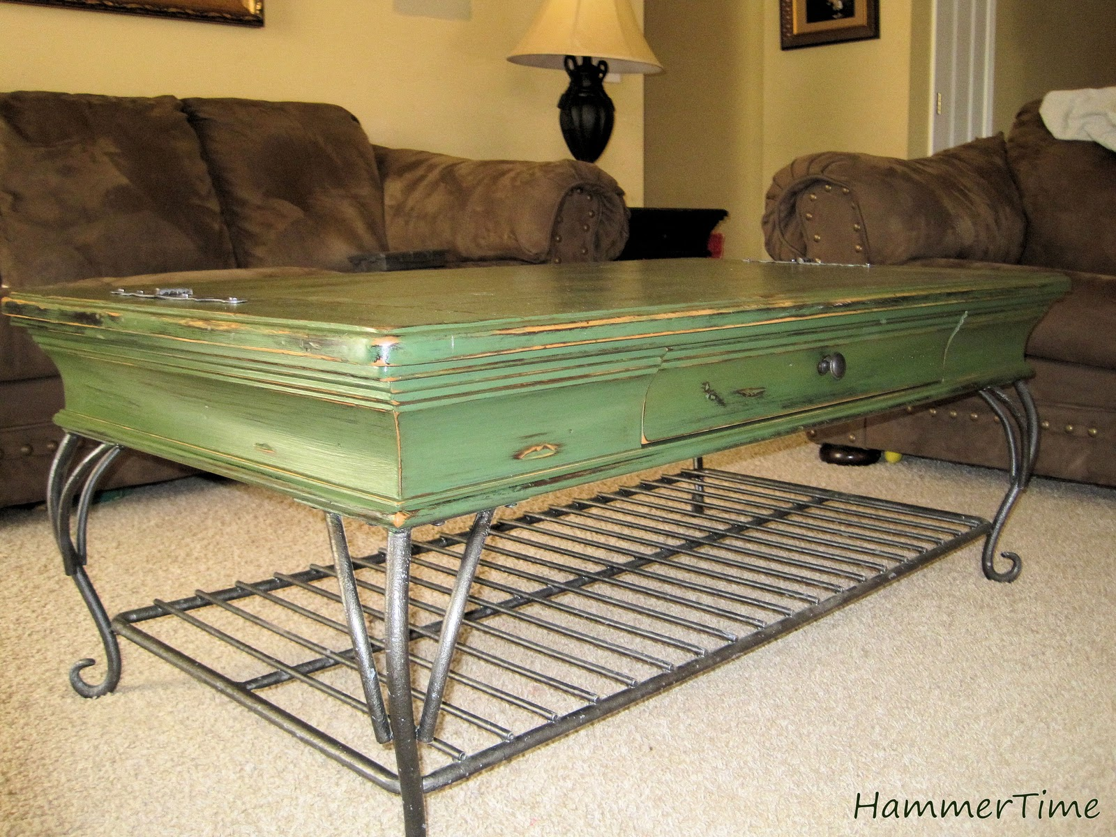 Hammer time coffee table revamp for Revamp coffee table