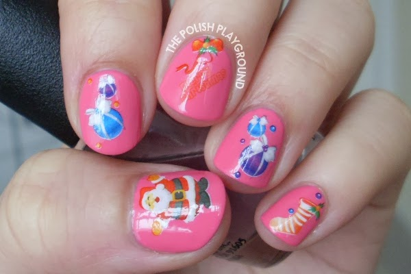 Christmas Water Nail Decal Nail Art