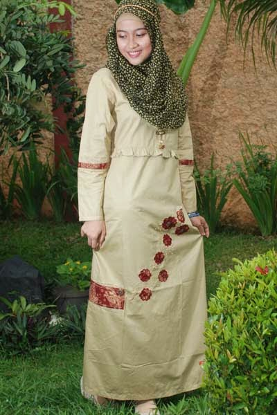 contoh model baju muslim untuk orang gemuk