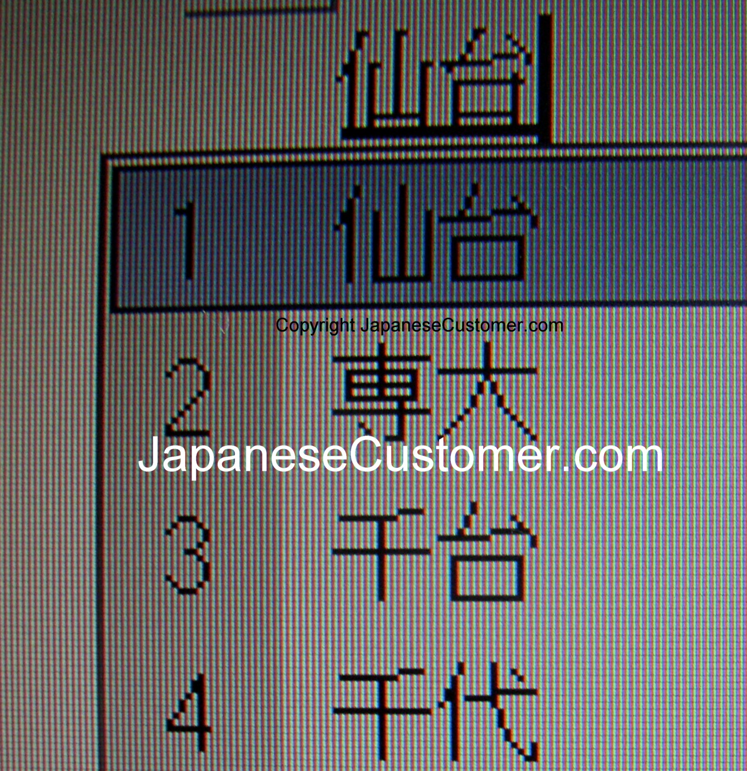 Looking up Japanese characters Copyright Peter Hanami 2014