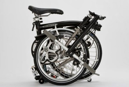 Brompton bicycle, folded