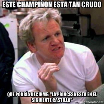El Chef Ramsay trolleando con el champiñón