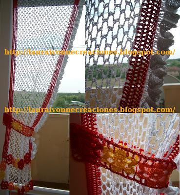Laura ivonne creaciones: cortina en crochet para mi cocina
