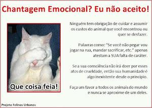 Chantagem emocional, Não!
