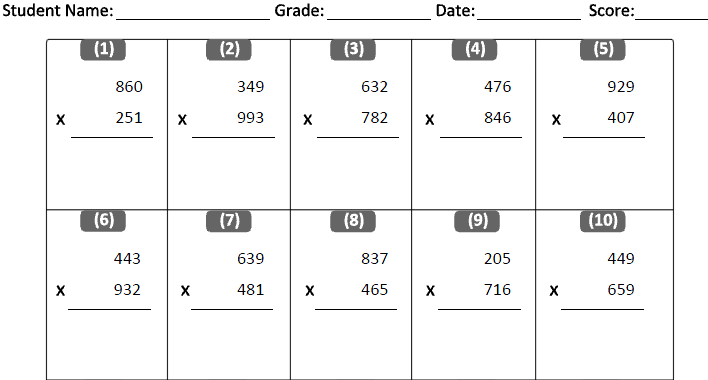 Maths Sums For Grade 4 Scalien – Math Worksheet for Grade 4