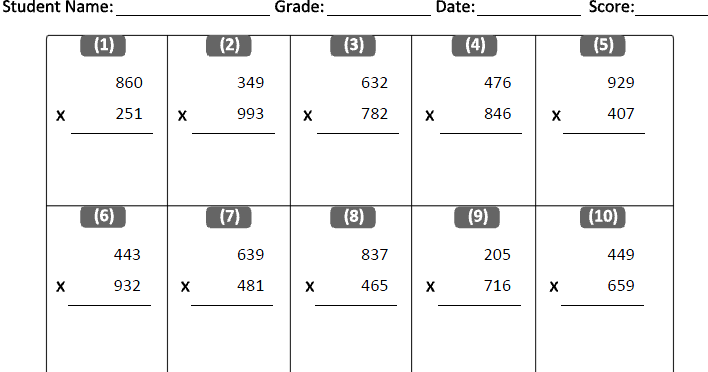 Multiplication Sums For Grade 4 Scalien – Grade 4 Multiplication Worksheets