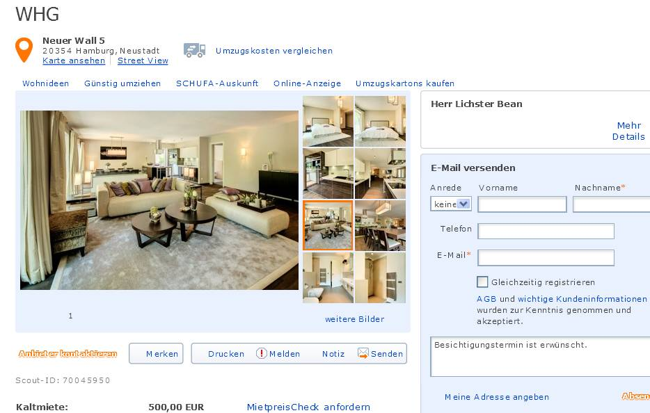alias herr lichster bean amalienstra e 19 80333 m nchen whg. Black Bedroom Furniture Sets. Home Design Ideas