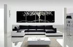 "Abstract Painting ""Tree of Life "" Black & White"