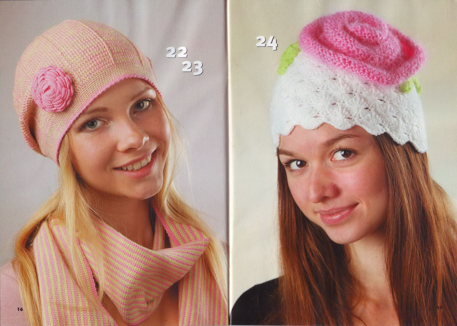 Вязание шапки и береты фото