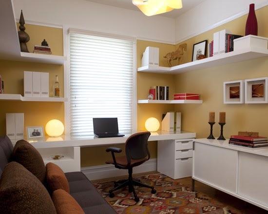 desain ruang kerja rumah minimalis