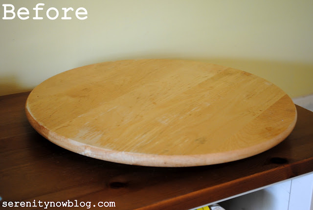 Serenity Now Stenciled Lazy Susan For Crafts Or The
