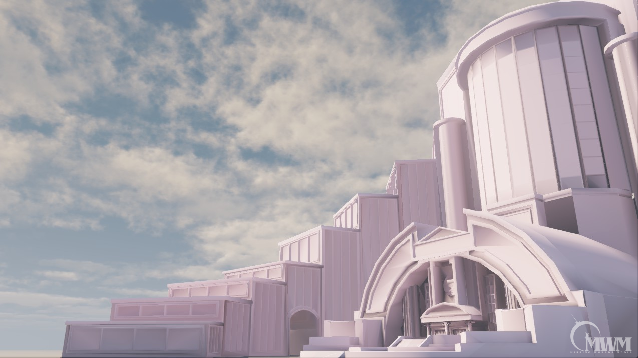 Second view of final mesh in UDK