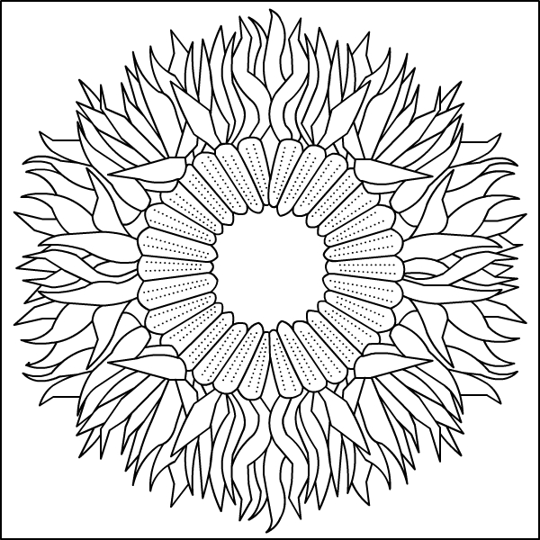 Autumn Mandala Coloring Pages Free