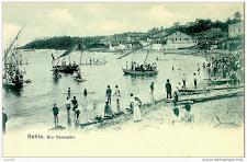 Festa de Iemanjá em postal de 1900