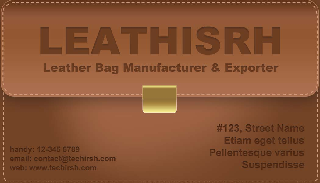Free leather bag style business card with psd file bc3 techirsh free leather bag style business card with psd file bc3 colourmoves