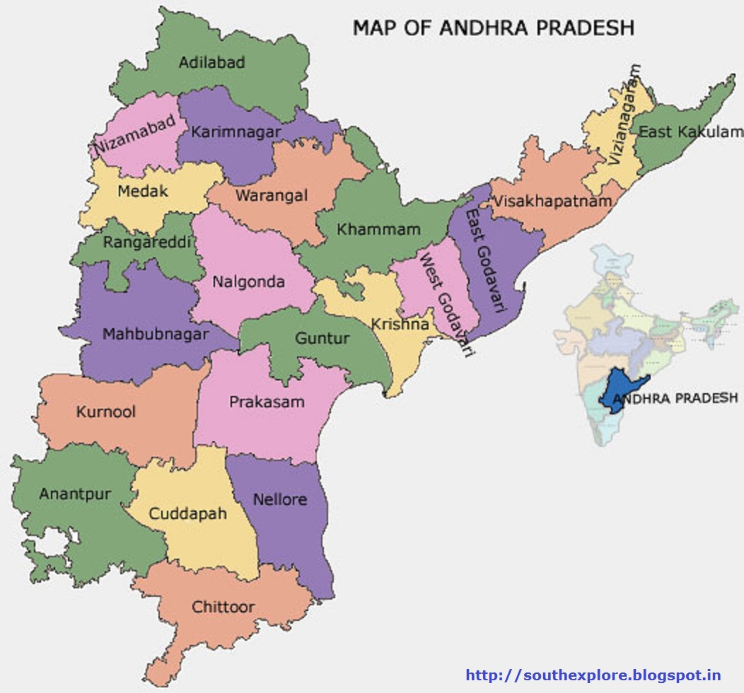 ANDHRA-PRADHESH TOURISM MAP / TOURIST ATTRACTIONS IN ANDHRA-PRADHESH ...