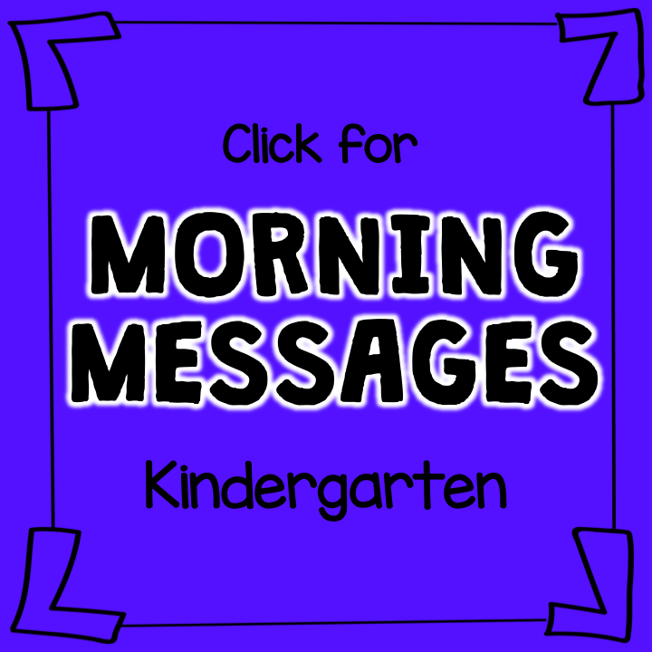 Morning Messages: Kingergarten