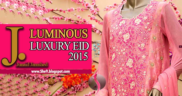 Junaid Jamshed Luxury Eid Dress Collection 2015