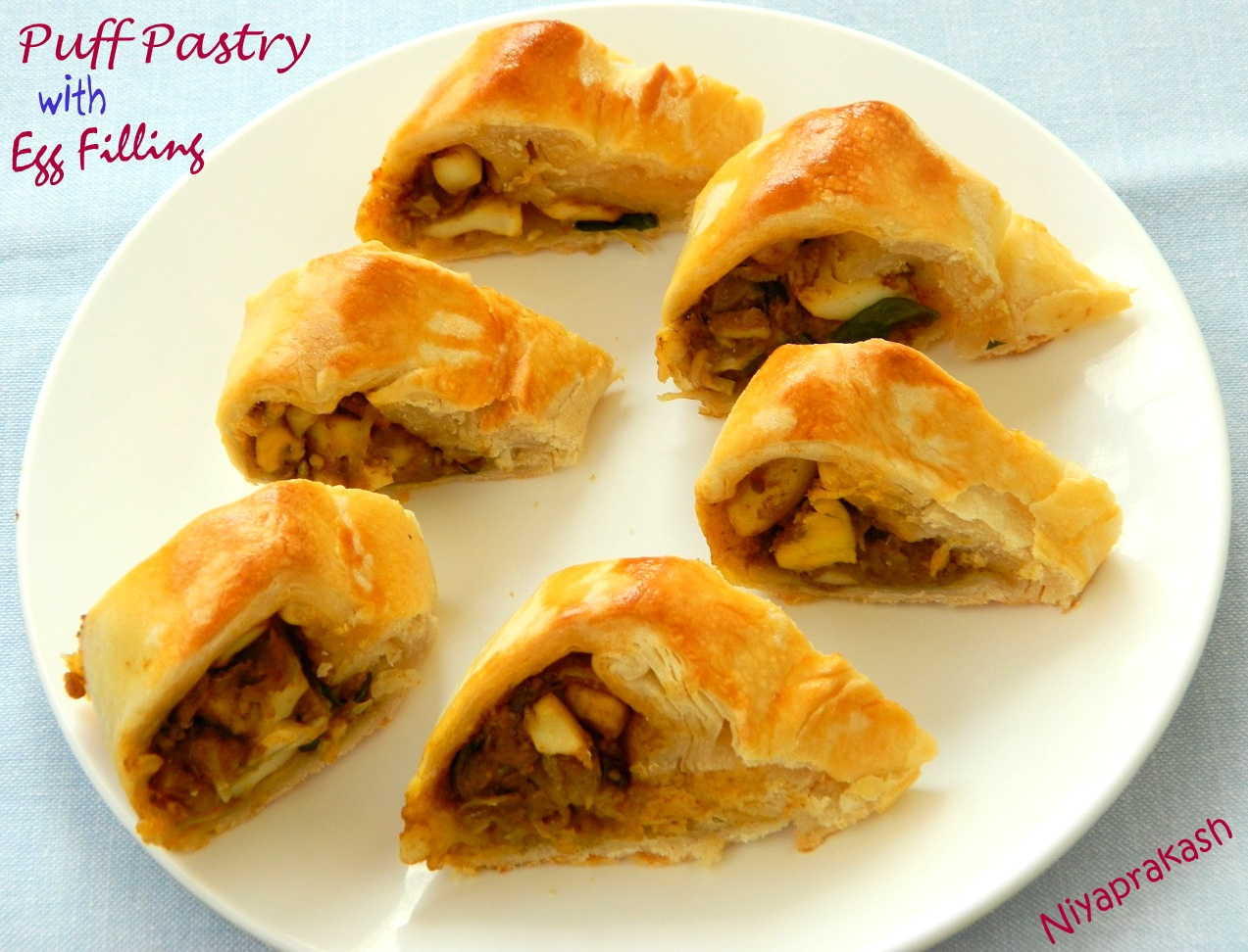 Niya's World: Puff Pastry with Egg Filling