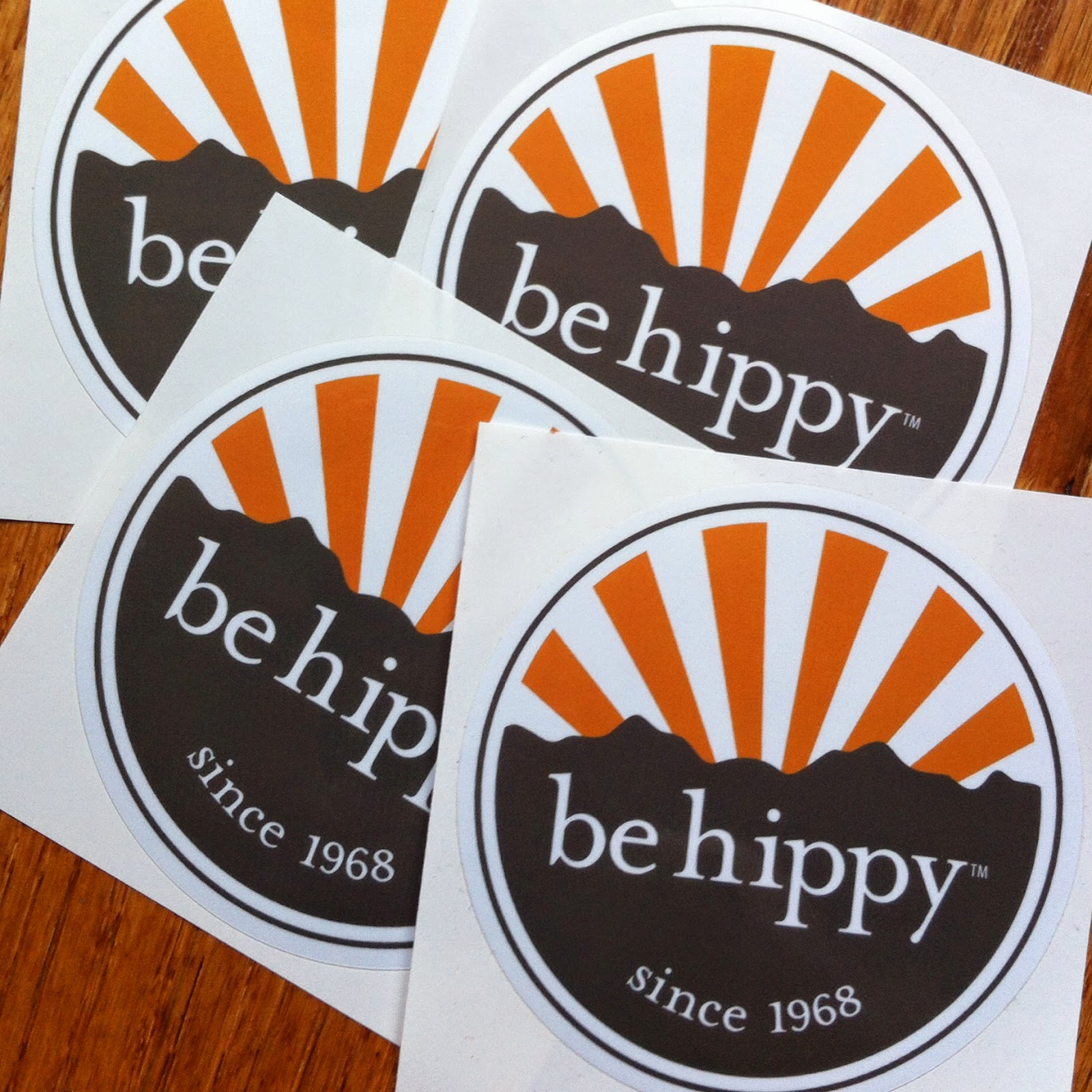 Be Hippy Stickers