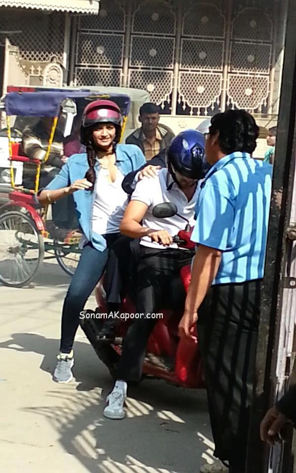 Sonam Kapoor and Ayushman at YRF next movie on location stills