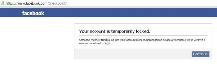 Penyebab Akun Facebook Menjadi Checkpoint