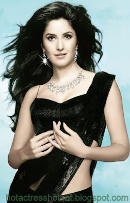 katrina kaif hot pics in black saree