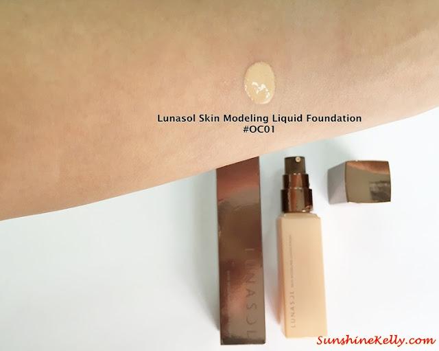 Lunasol Spring 2015, Elegant Purification Makeup, Lunasol, color swatch, Lunasol Skin Modeling Liquid Foundation