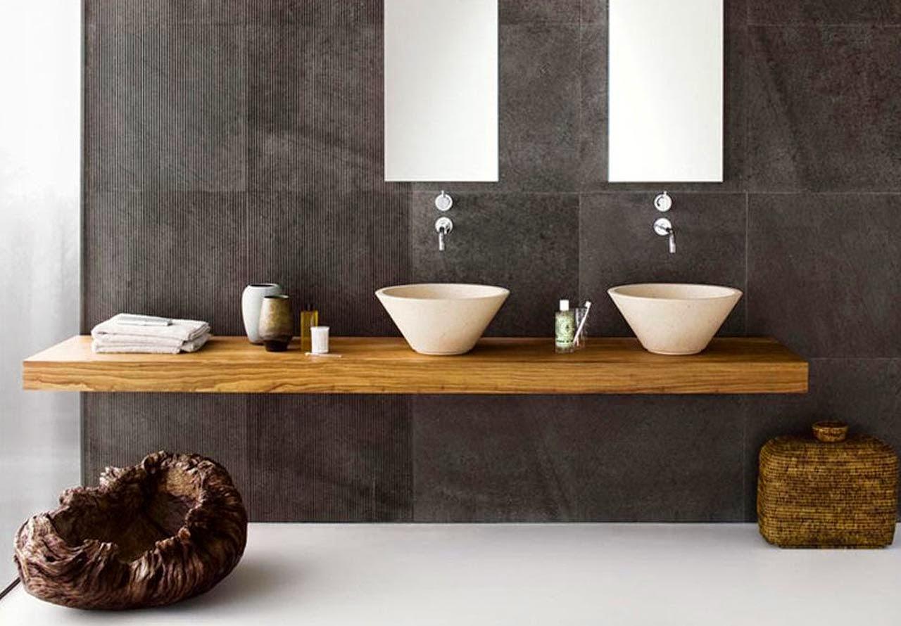 Banheiros modernos 19 modelos. Confira! Decor Alternativa #996B32 1280 890
