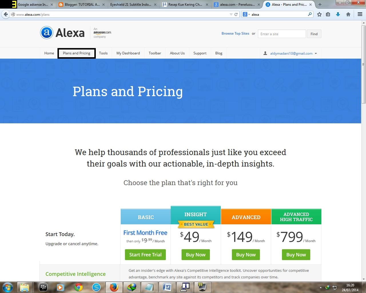 Alexa Plans And Priciping