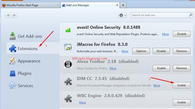 Memunculkan Icon IDM untuk Download Video
