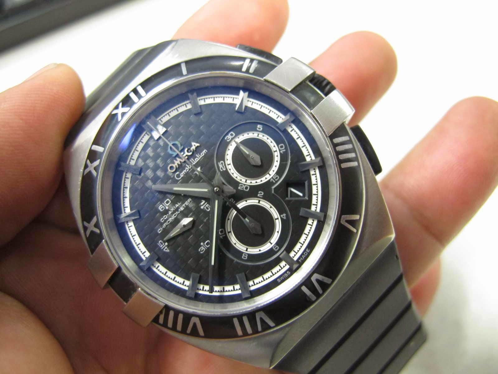 Cocok untuk Anda yang sedang mencari jam tangan dengan case TITANIUM Super RARE watch OMEGA CONSTELLATION DOUBLE EAGLE MISSION HILLS WORLD CUP