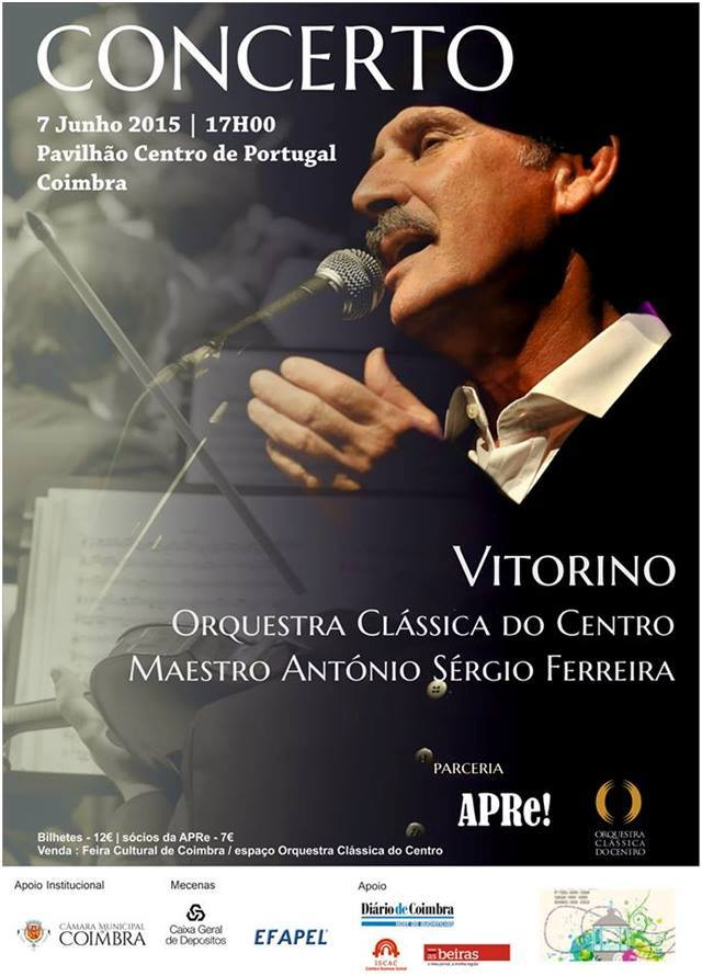 Coimbra, concerto com Vitorino e a Orquestra Clássica do Centro