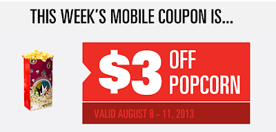 $3 off popcorn mobile coupon at regal cinemas